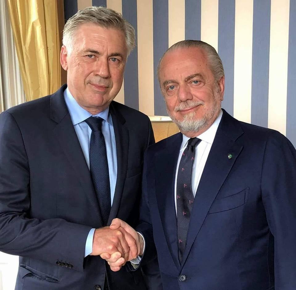 Incontro a casa Ancelotti, De Laurentiis disegna il nuovo Napoli