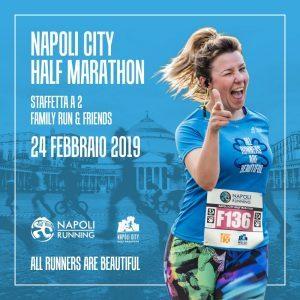 Maschio Angioino e un runner sulla medaglia della 6^ Napoli City Half Marathon  Il simbolo della città in regalo a migliaia di partecipanti. Verranno premiate le Società sportive più numerose