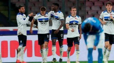 Napoli-Atalanta 1-2, gli azzurri sprecano, bergamaschi quarti