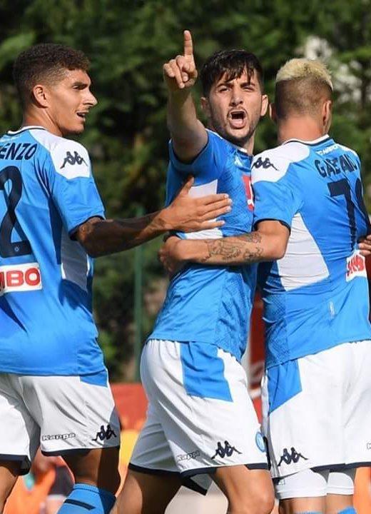 Napoli-Feralpisalò 5-0, rete all'esordio per Manolas, doppio Verdi