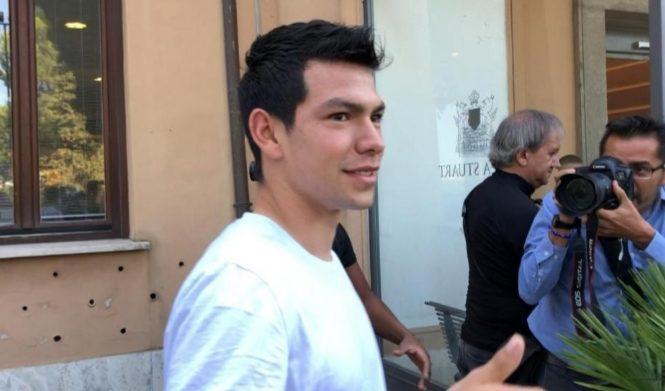 Lozano è a Villa Stuart, visite mediche e firma