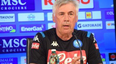"""Ancelotti in conferenza: """"Niente Firenze per Lozano e Milik, voto 10 al nostro mercato"""""""
