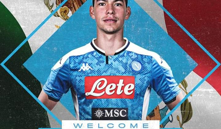 Il Napoli ufficializza Lozano e De Laurentiis gli dà il benvenuto