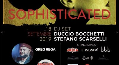"COLOUR INSIDE E' ""SOPHISTICATED"":  ESCLUSIVA ONE NIGHT DI MUSICA, ARTE, DANZA MODA E FOOD  CON GREG REGA E I PRODANCERS  MERCOLEDI 18 SETTEMBRE AL POST APERITIF CLUB"