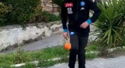 """""""Orange Challenge"""", i baby azzurri lanciano la sfida di palleggi con l'arancia"""
