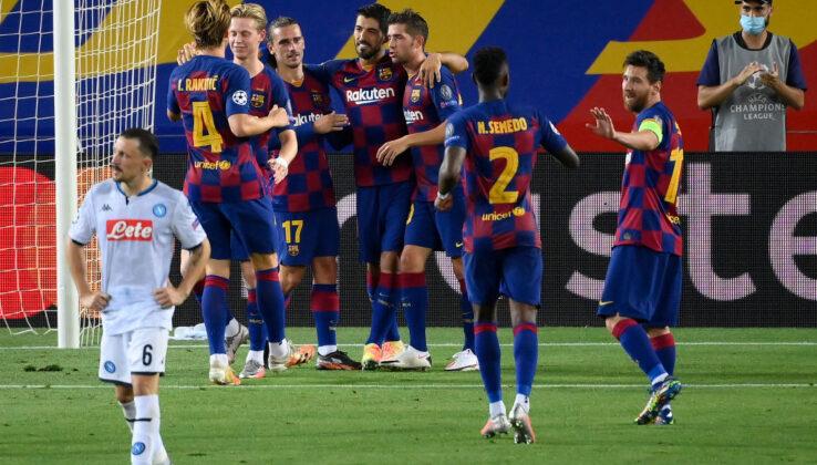 Barcellona-Napoli 3-1, Messi è super, azzurri fuori ma a testa alta