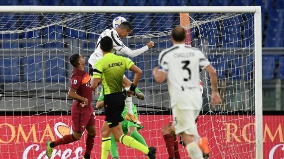 Roma-Juventus 2-2, doppiette di Veretout e Ronaldo