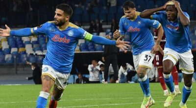 Napoli-Legia Varsavia 3-0, colpiscono Insigne, Osimhen e Politano